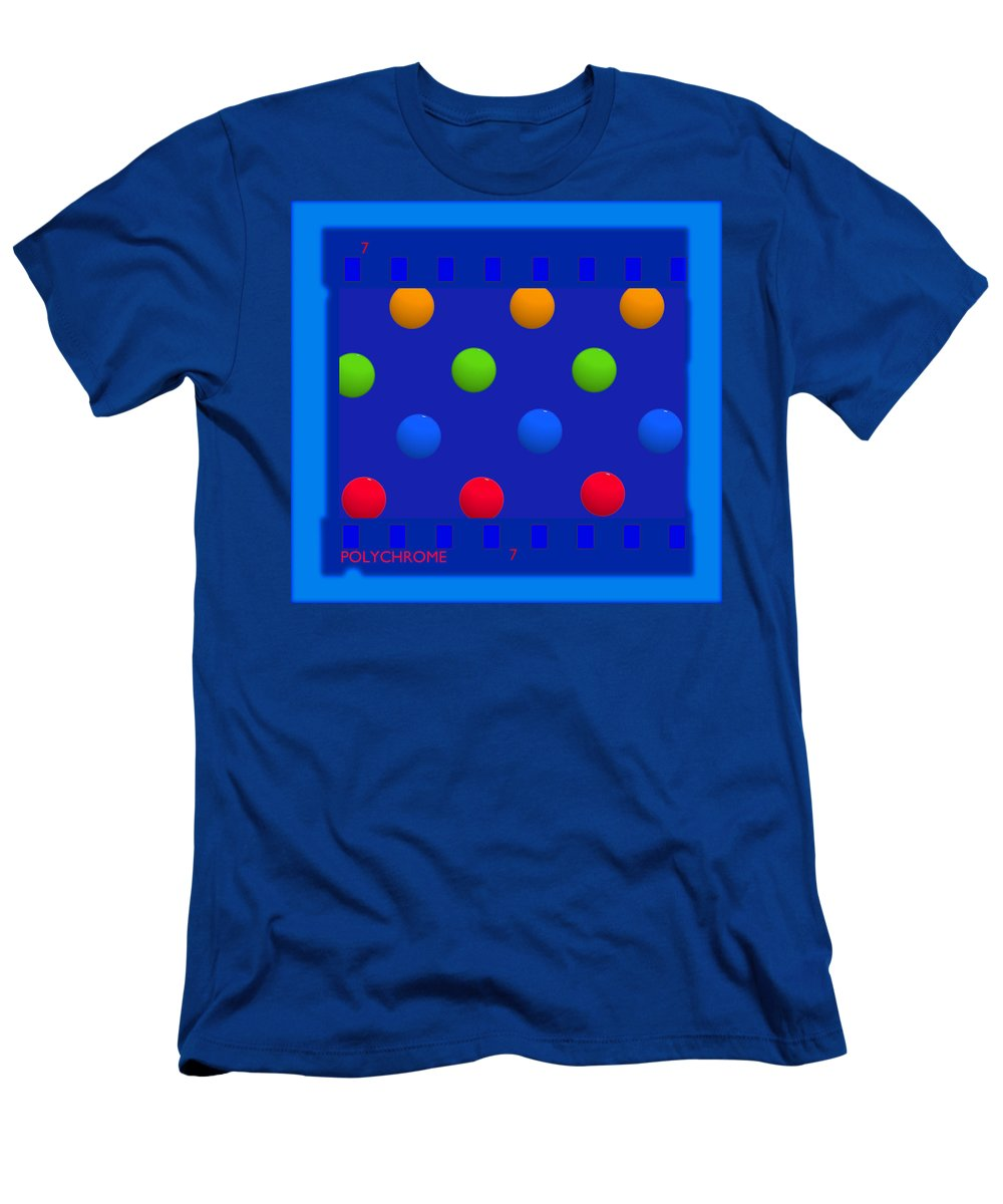 Spots Men's T-Shirt (Athletic Fit) featuring the painting Particle 7 by Charles Stuart