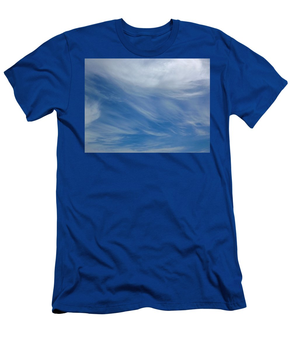 Cloud Men's T-Shirt (Athletic Fit) featuring the photograph Partly Cloudy by Greg Boutz