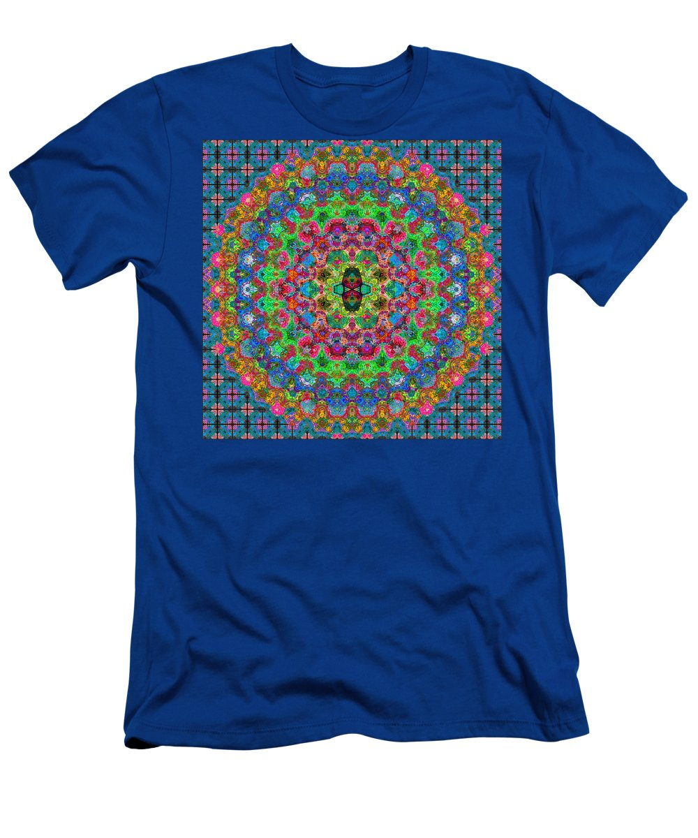 Abstract Men's T-Shirt (Athletic Fit) featuring the digital art Pattern One... by Tim Fillingim