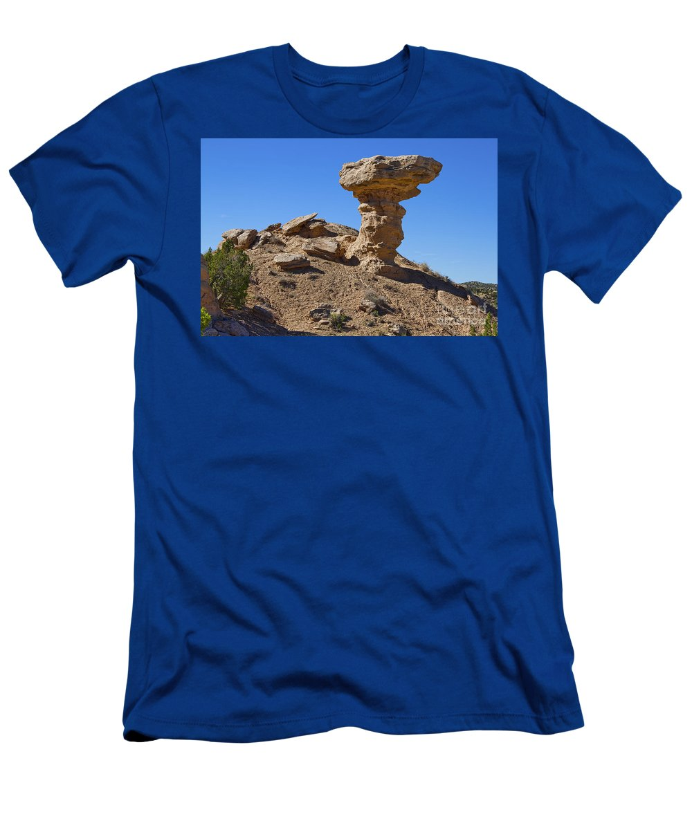 Petrified Camel Men's T-Shirt (Athletic Fit) featuring the photograph Petrified Camel by Gary Holmes