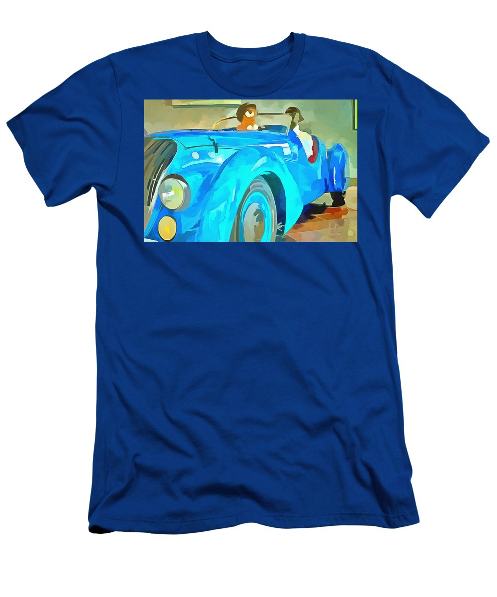 Peugeot Darl'mat Men's T-Shirt (Athletic Fit) featuring the painting Peugeot Darl'mat by L Wright