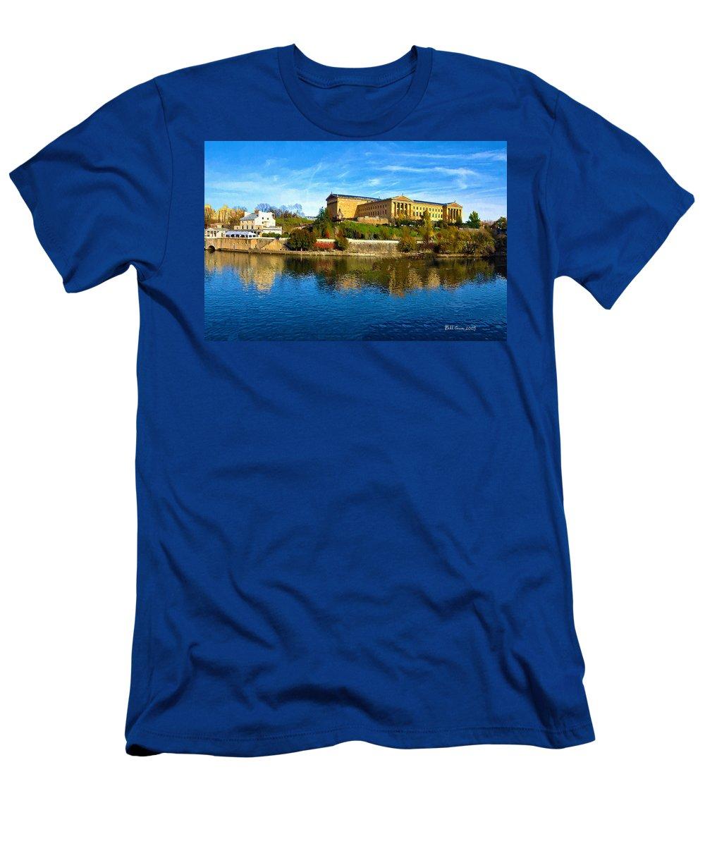 Philadelphia Men's T-Shirt (Athletic Fit) featuring the photograph Philadelphia Art Museum 2009 by Bill Cannon