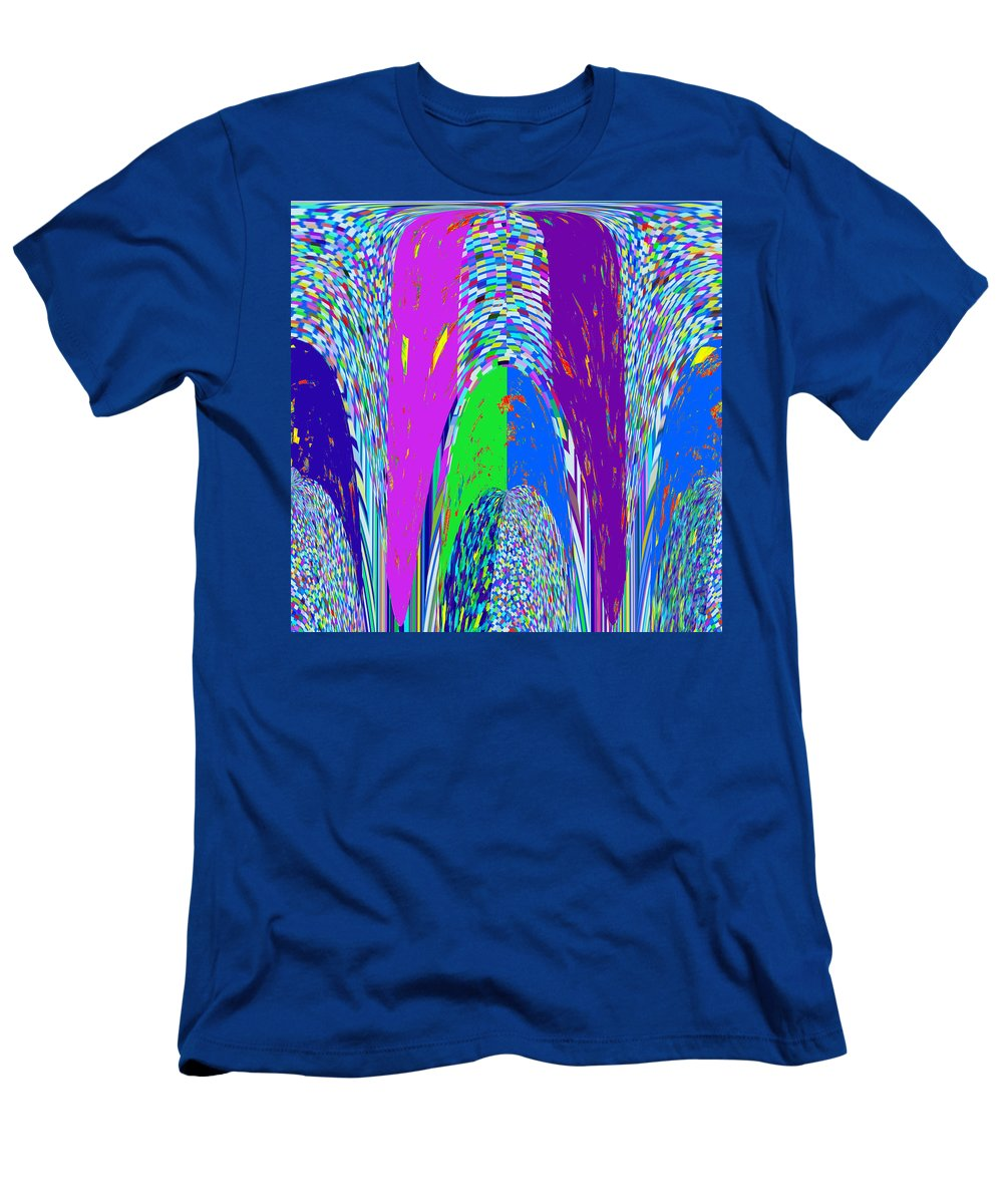 Philosophy Men's T-Shirt (Athletic Fit) featuring the mixed media Philosophy Of Shivalinga Shiva Linga India Hinduism Spiritual Energy God Generator Operator And Dist by Navin Joshi