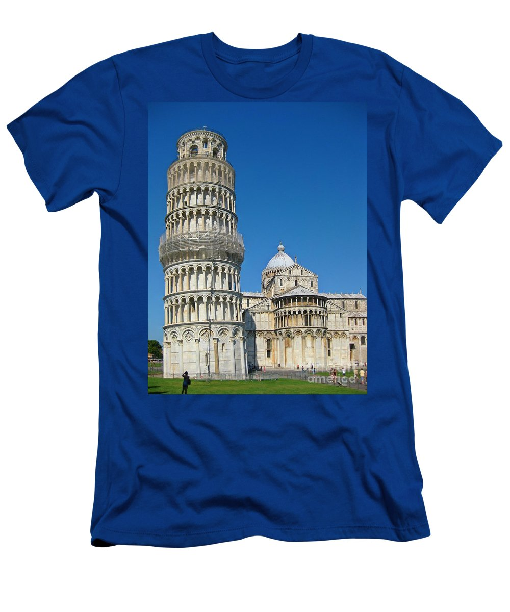 Towers Men's T-Shirt (Athletic Fit) featuring the photograph Pisa Italy by John Malone