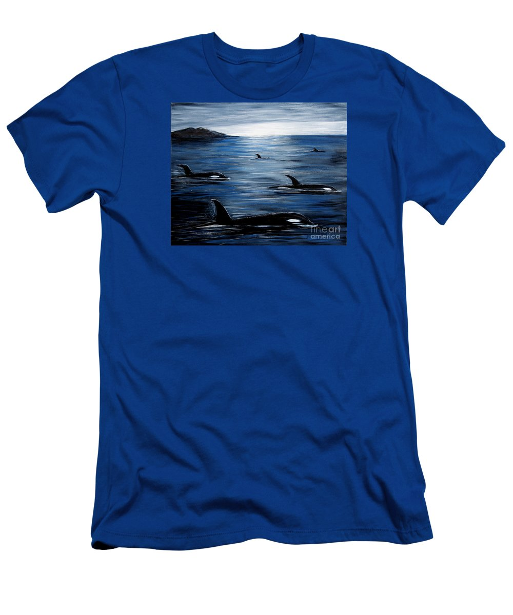 Barbara Griffin T-Shirt featuring the painting Pod on a Mission by Barbara Griffin