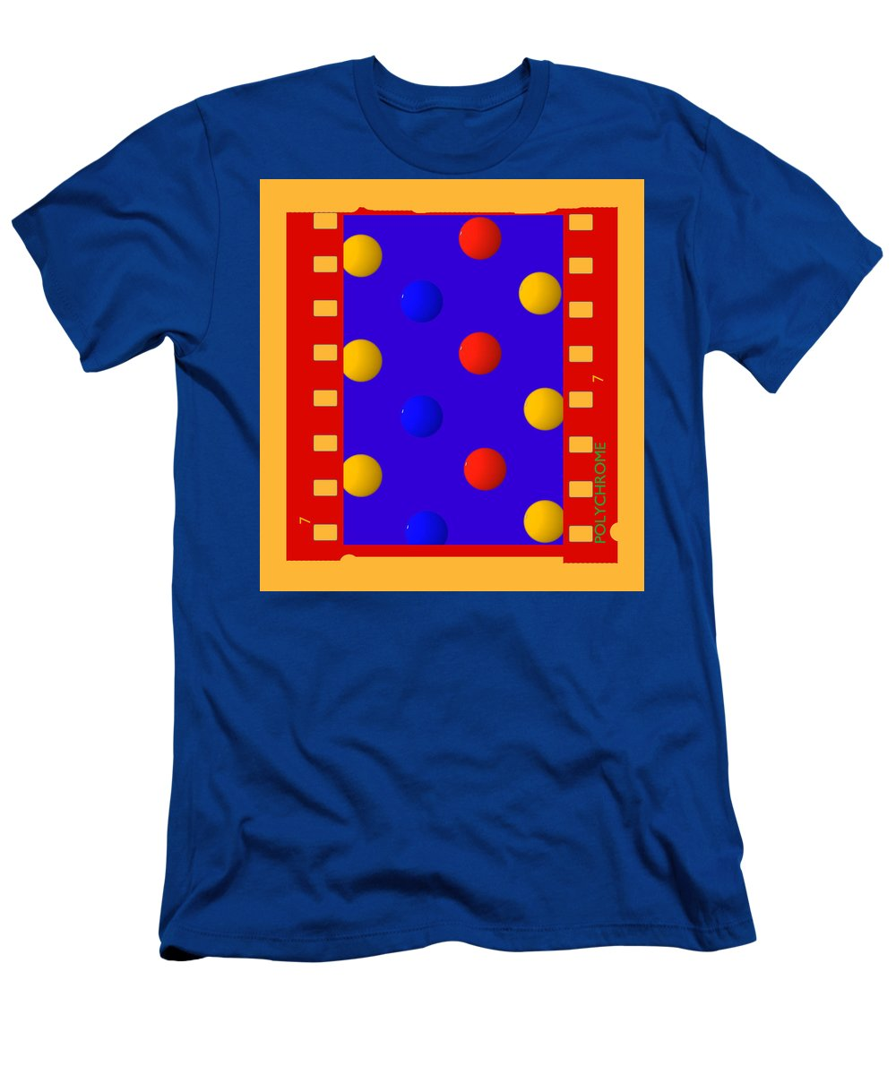 Polychrome Men's T-Shirt (Athletic Fit) featuring the painting Polychromatic by Charles Stuart