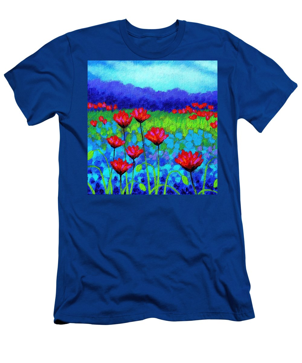 Acrylic Men's T-Shirt (Athletic Fit) featuring the painting Poppy Study by John Nolan