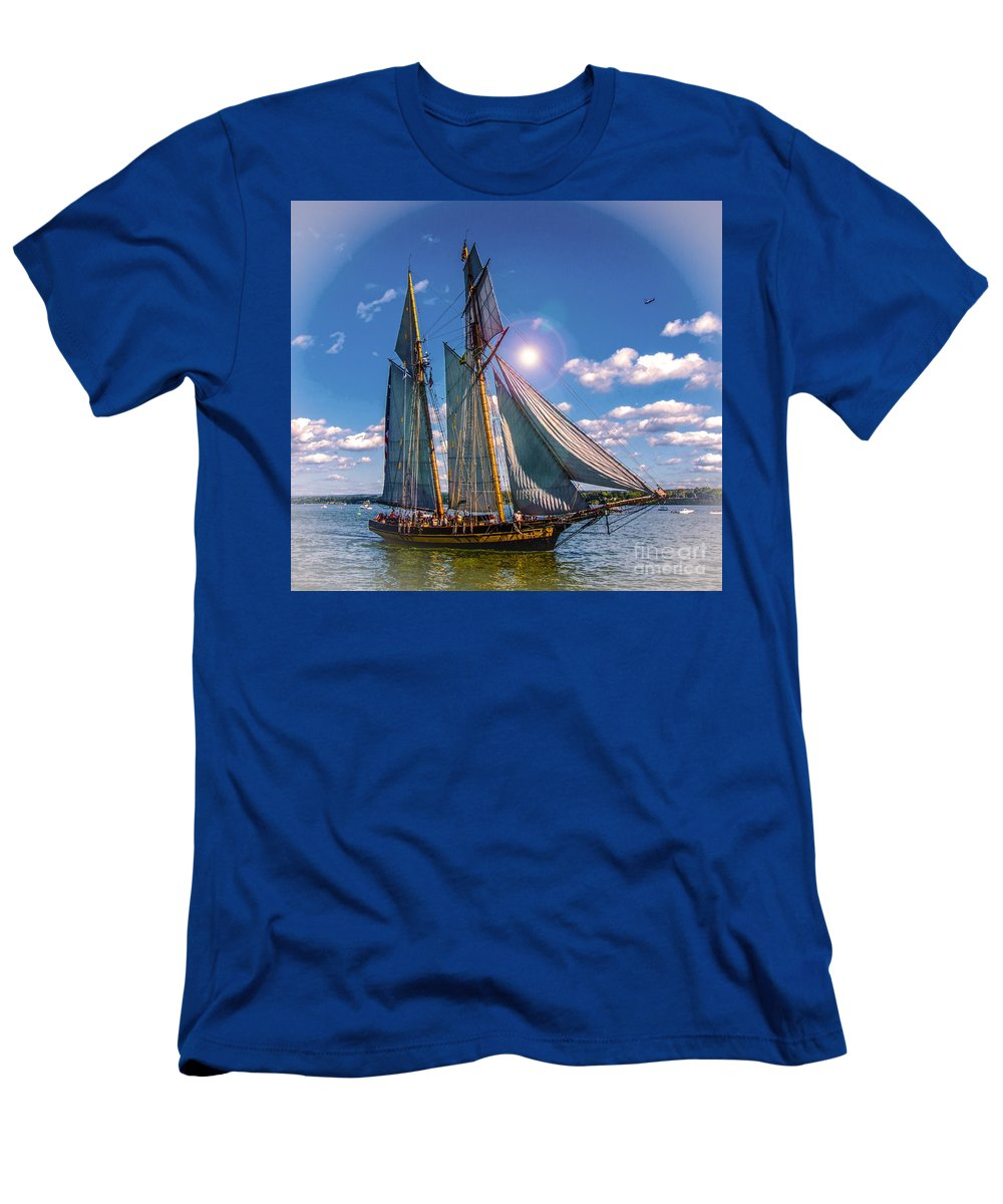 Photography Men's T-Shirt (Athletic Fit) featuring the digital art Pride Of Baltimore 3 by Kathryn Strick