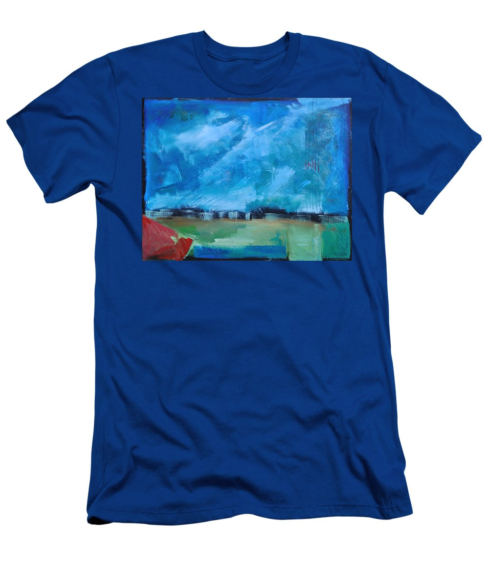 Abstract Men's T-Shirt (Athletic Fit) featuring the painting Prophesy by Tim Nyberg