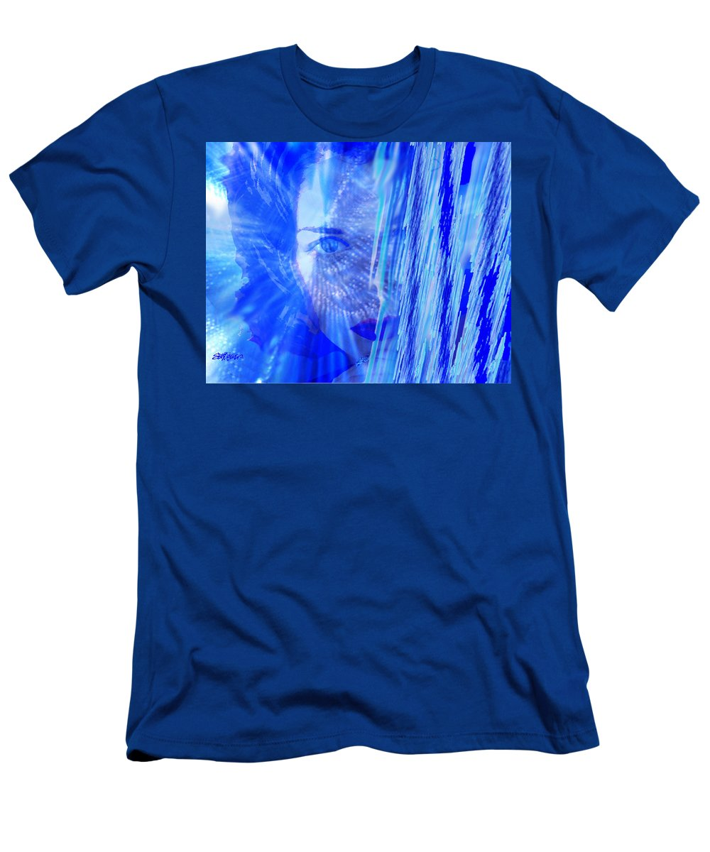 Rainy Day Dreams Men's T-Shirt (Athletic Fit) featuring the digital art Rainy Day Dreams by Seth Weaver