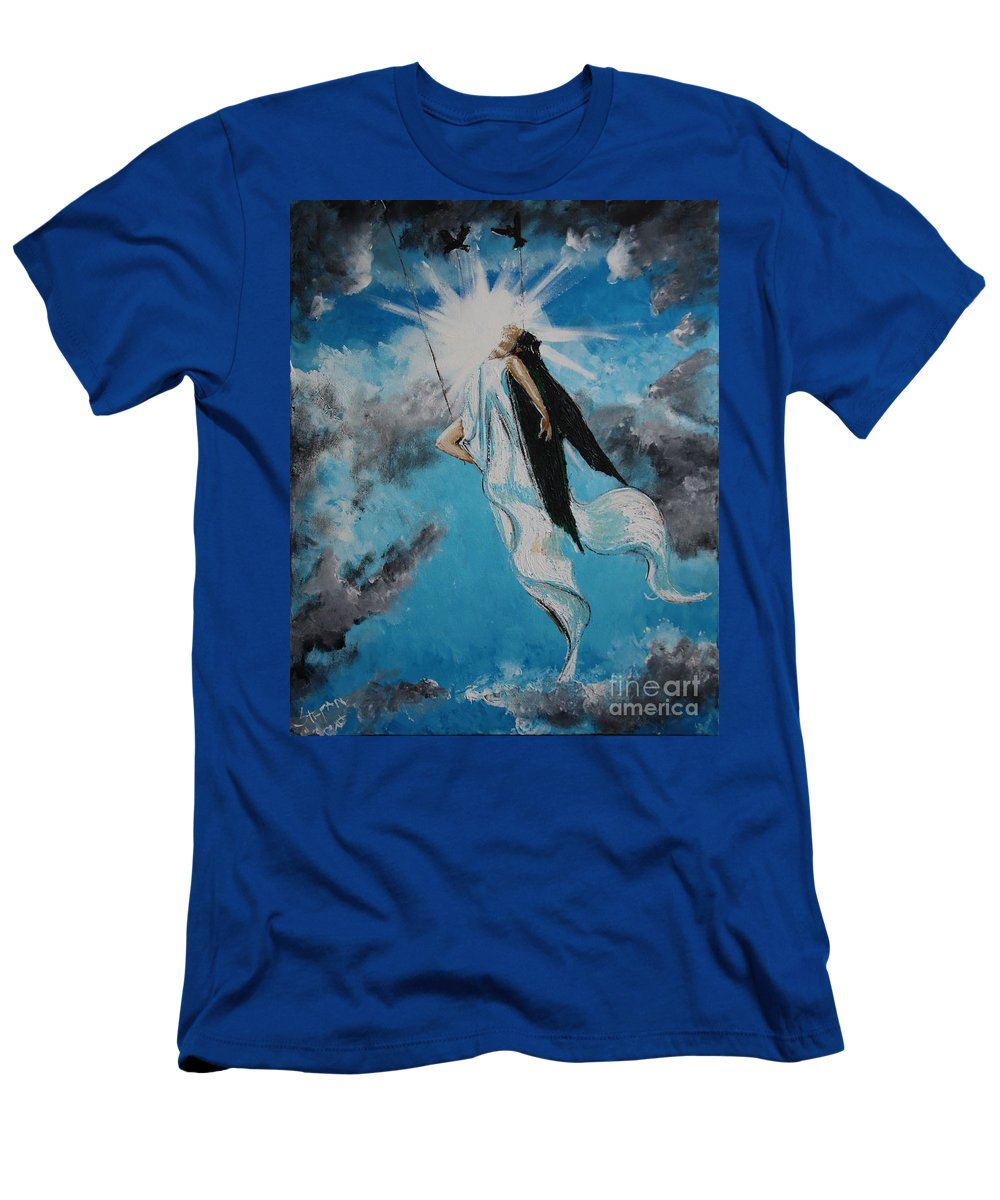 Impressionism Men's T-Shirt (Athletic Fit) featuring the painting Ravesencion by Stefan Duncan