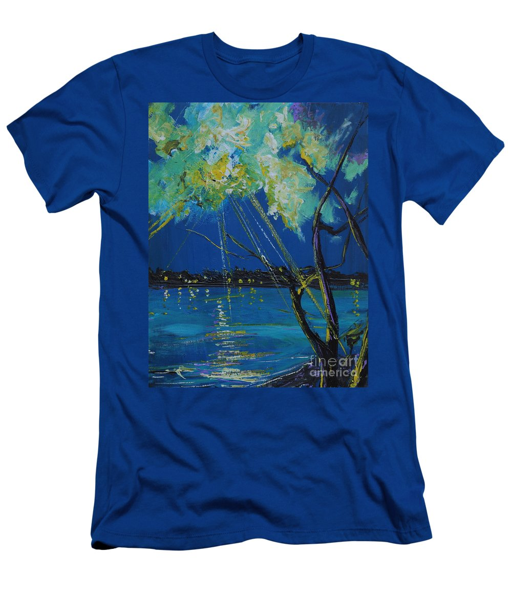 Landscape Men's T-Shirt (Athletic Fit) featuring the painting Rays Of Divinity by Stefan Duncan
