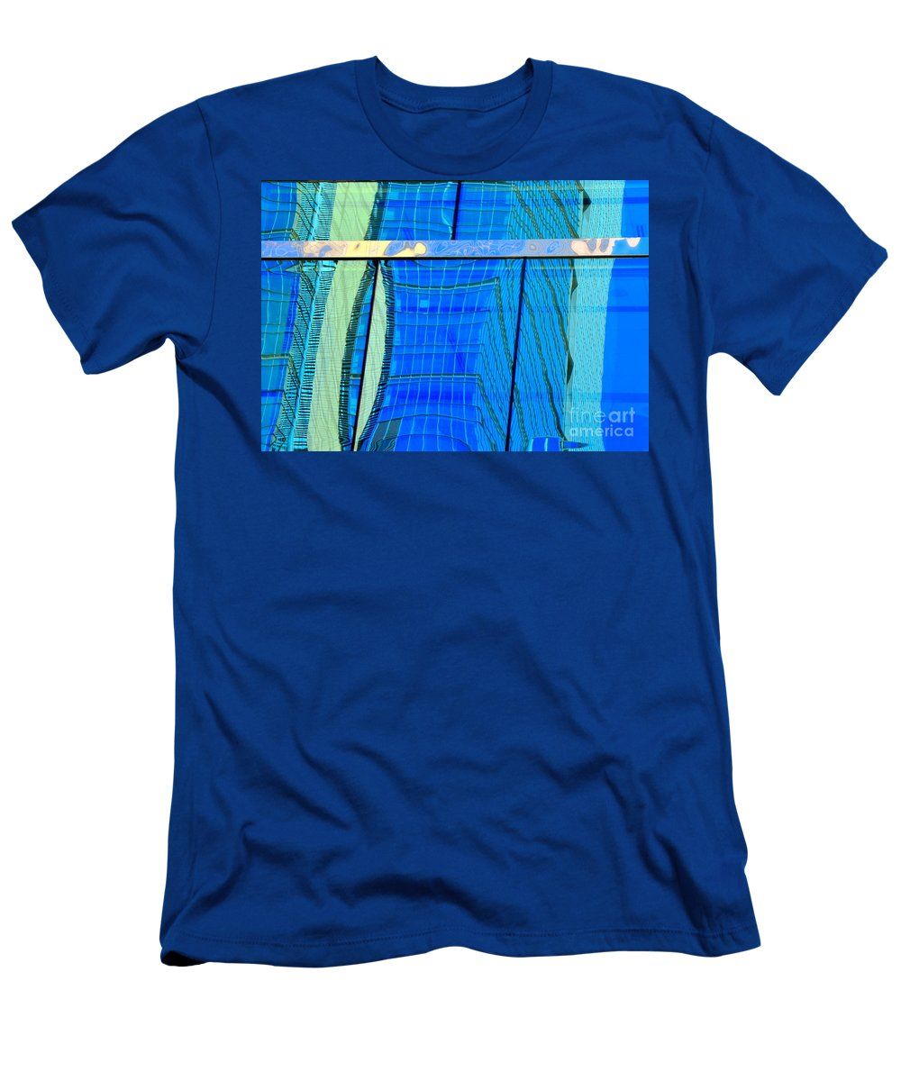 Abstract Men's T-Shirt (Athletic Fit) featuring the photograph Reflections Of Seattle by Lauren Leigh Hunter Fine Art Photography