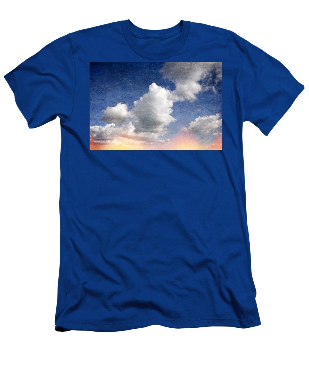 Retro Men's T-Shirt (Athletic Fit) featuring the digital art Retro Clouds 2 by Steve Ball