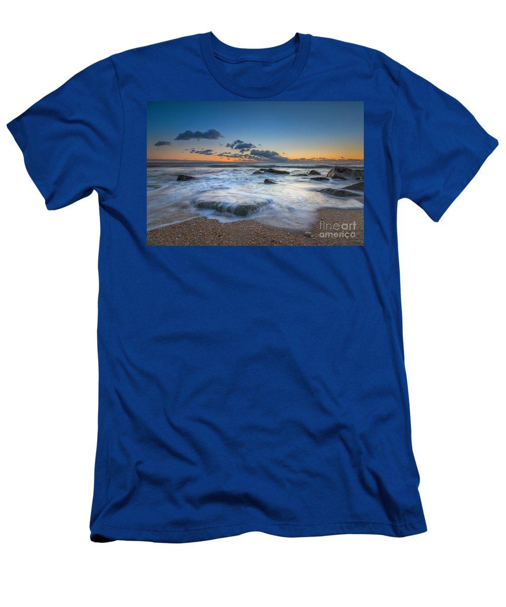 Michael Ver Sprill Men's T-Shirt (Athletic Fit) featuring the photograph Rising Tide by Michael Ver Sprill