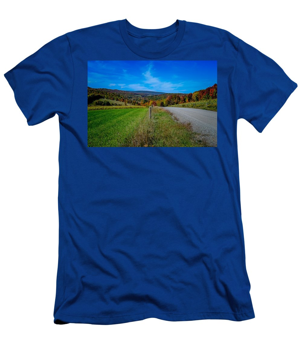 Men's T-Shirt (Athletic Fit) featuring the photograph Road by Michael Brooks