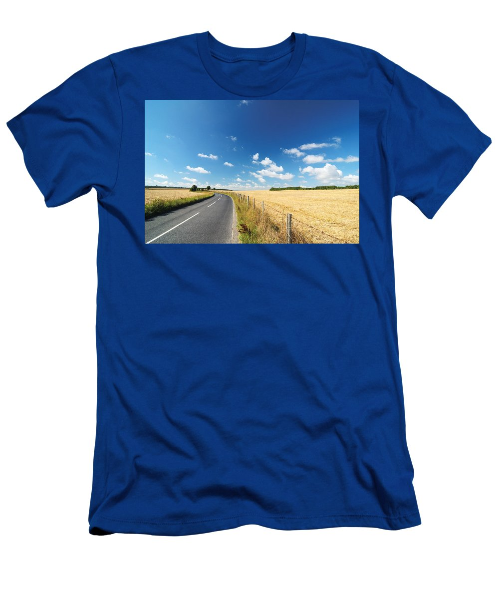 Road Men's T-Shirt (Athletic Fit) featuring the photograph Road To Nowhere by Chevy Fleet