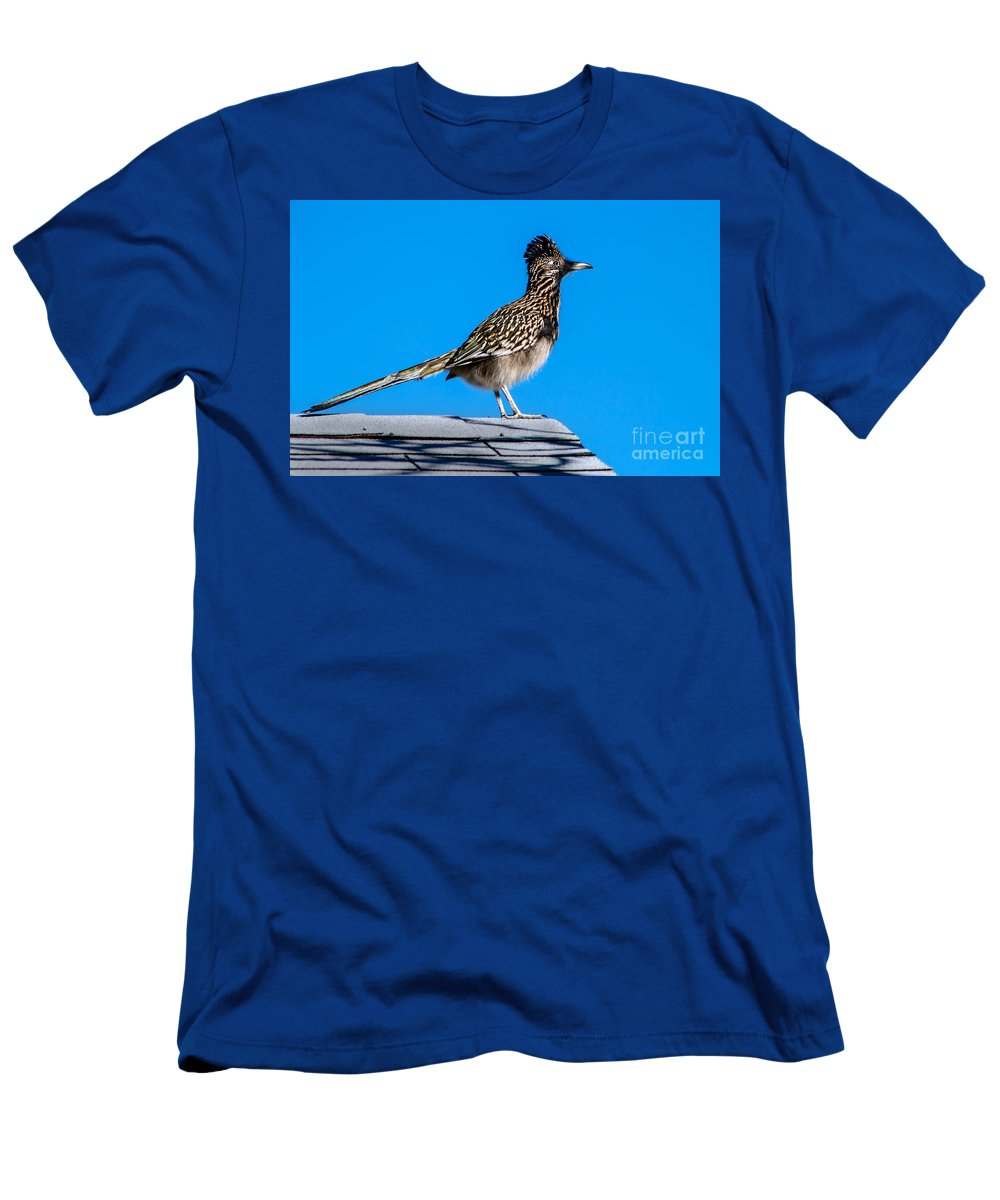 Greater Roadrunner Men's T-Shirt (Athletic Fit) featuring the photograph Roadrunner by Robert Bales