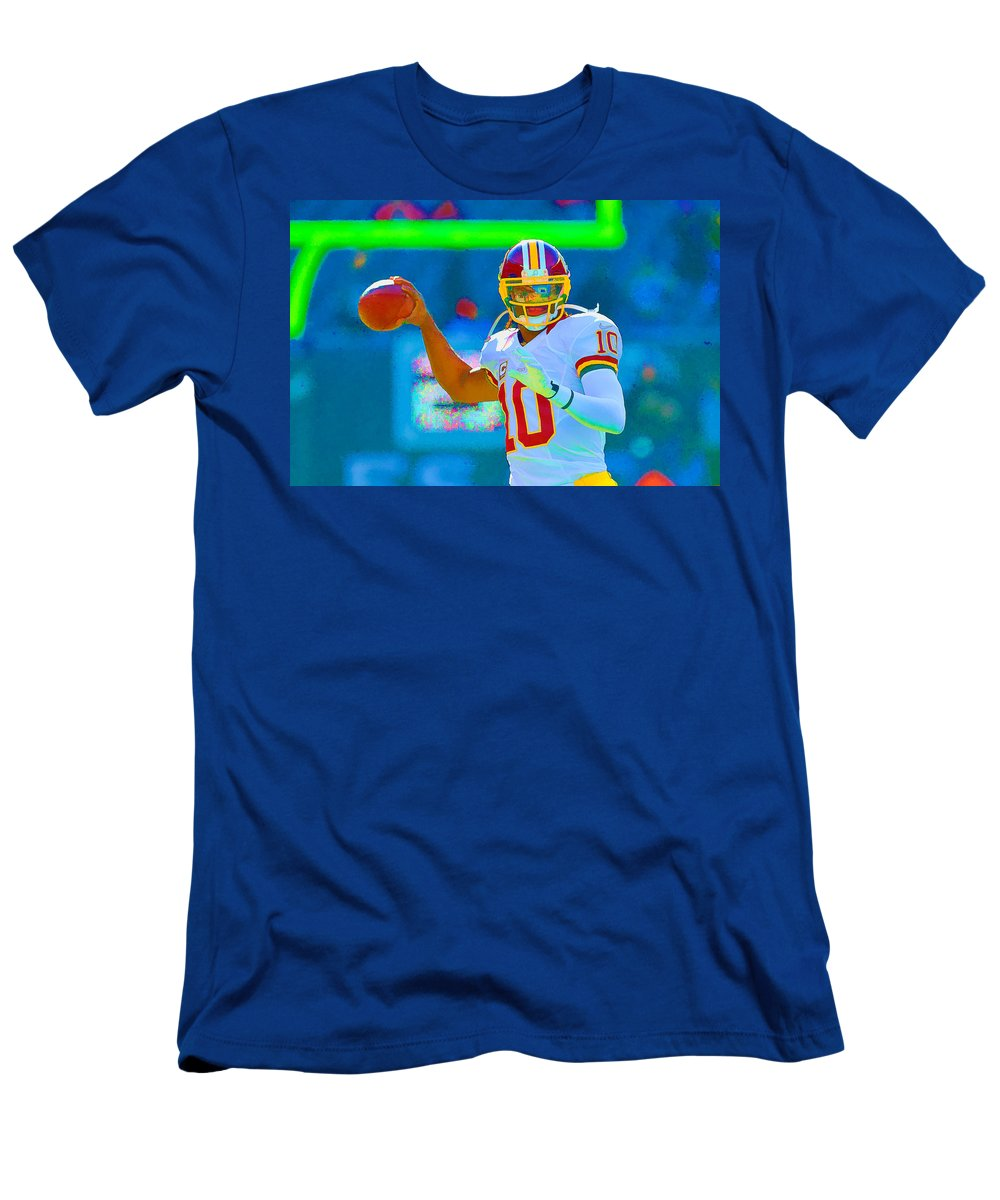 Football Men's T-Shirt (Athletic Fit) featuring the photograph Robert Griffin IIi  Rg 3 by William Jobes