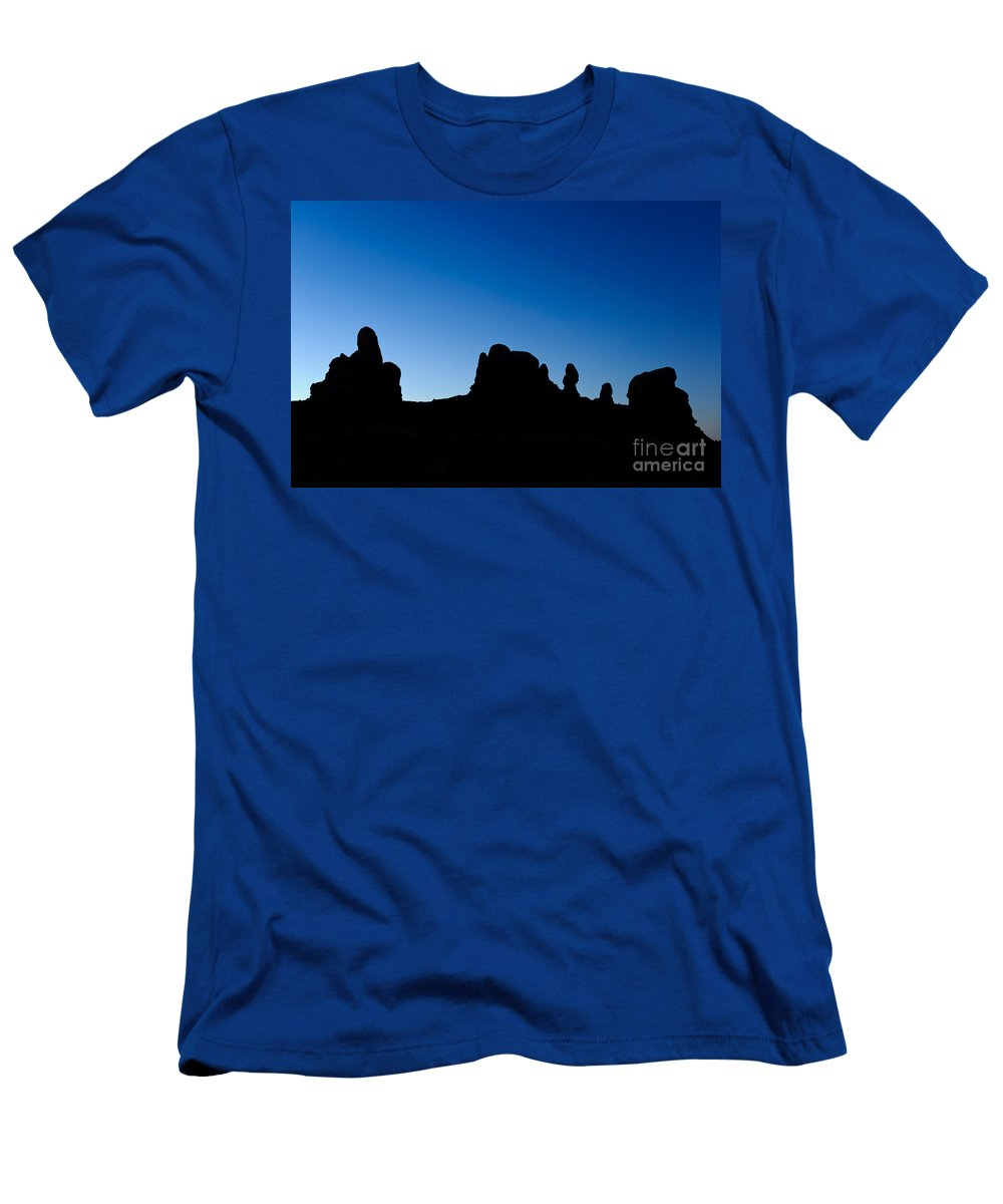 Nature Men's T-Shirt (Athletic Fit) featuring the photograph Rock Formations, Arches National Park by John Shaw