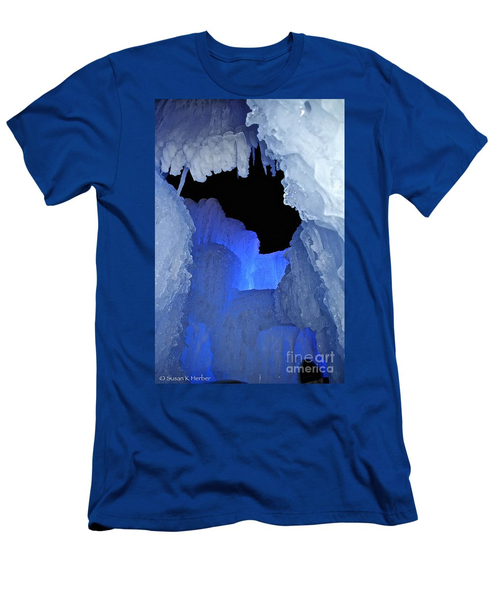 Ice Men's T-Shirt (Athletic Fit) featuring the photograph Roofless by Susan Herber