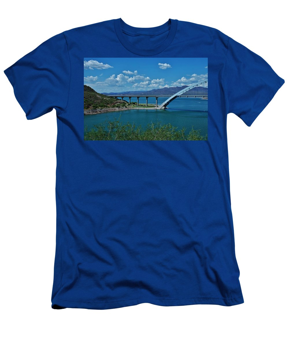 Roosevelt Lake Men's T-Shirt (Athletic Fit) featuring the photograph Roosevelt Lake 3 - Arizona by Dany Lison