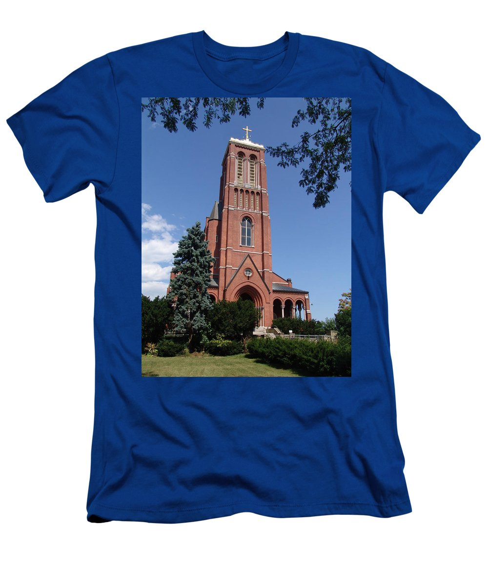 Saint Patrick's Church Men's T-Shirt (Athletic Fit) featuring the photograph Saint Patrick's Church by Eric Swan