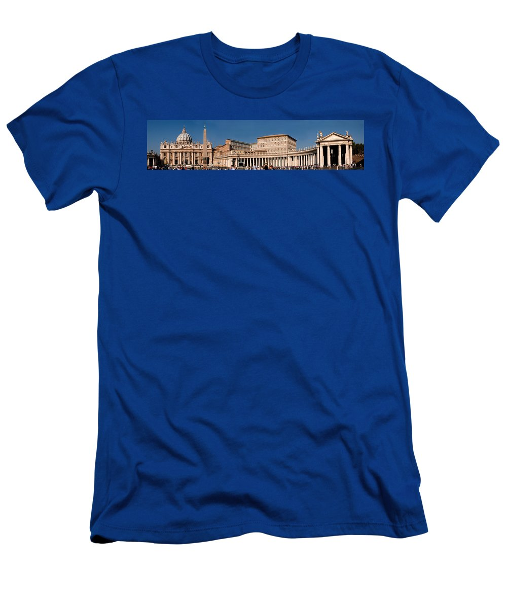Saint Peters Square Men's T-Shirt (Athletic Fit) featuring the photograph Saint Peters Square by Weston Westmoreland