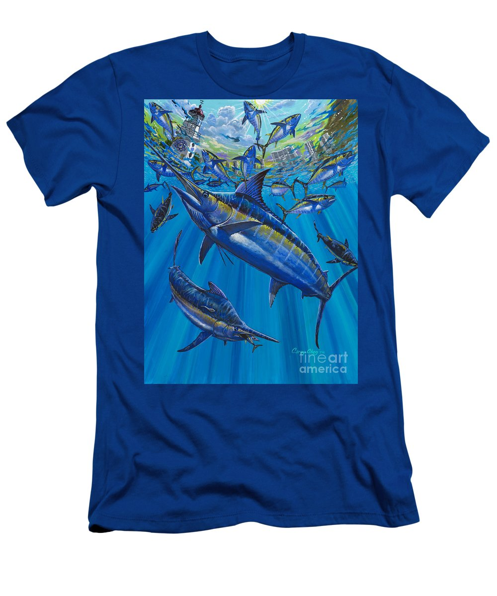 Marlin Men's T-Shirt (Athletic Fit) featuring the painting Salinas Off006 by Carey Chen