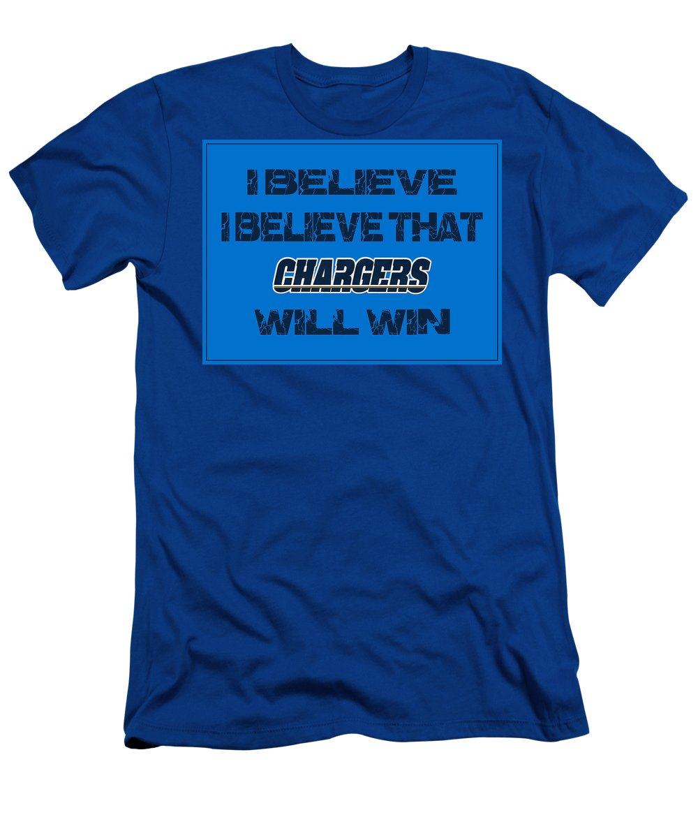 Chargers Men's T-Shirt (Athletic Fit) featuring the photograph San Diego Chargers I Believe by Joe Hamilton