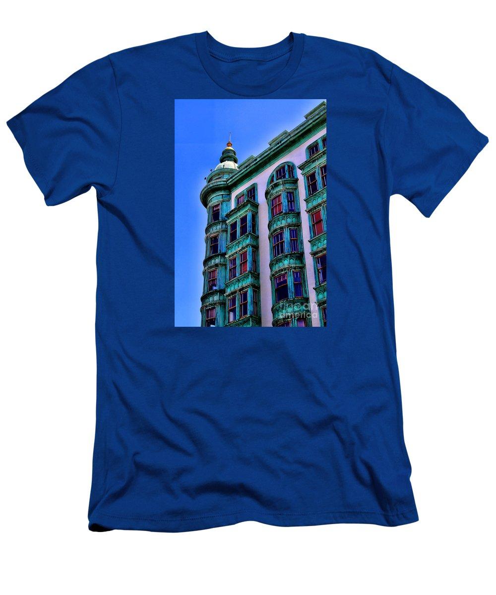 San Francisco Men's T-Shirt (Athletic Fit) featuring the photograph San Francisco Glow By Diana Sainz by Diana Raquel Sainz