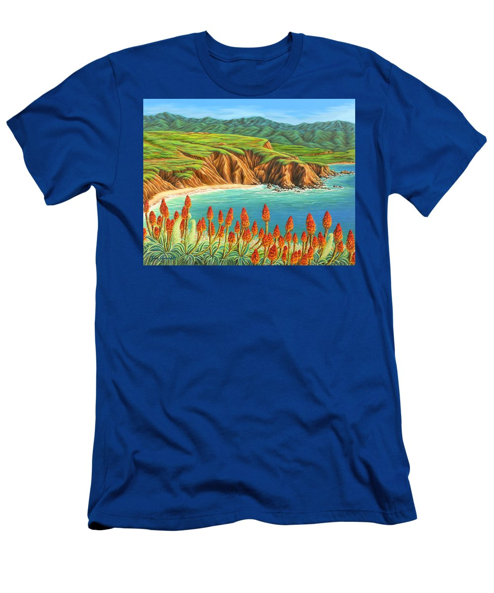 Ocean Men's T-Shirt (Athletic Fit) featuring the painting San Mateo Springtime by Jane Girardot