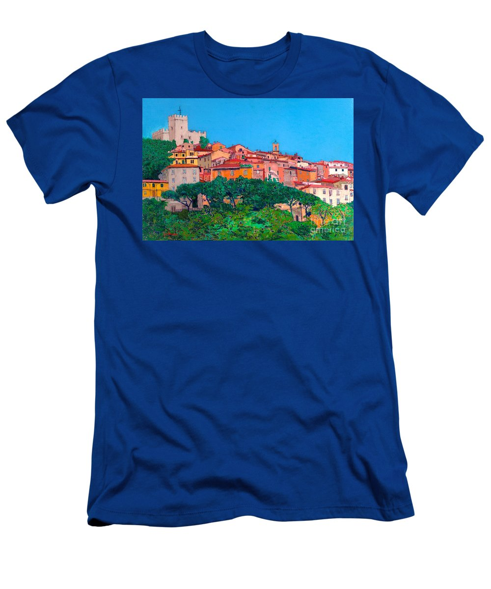 Landscape Men's T-Shirt (Athletic Fit) featuring the painting Saturina by Allan P Friedlander