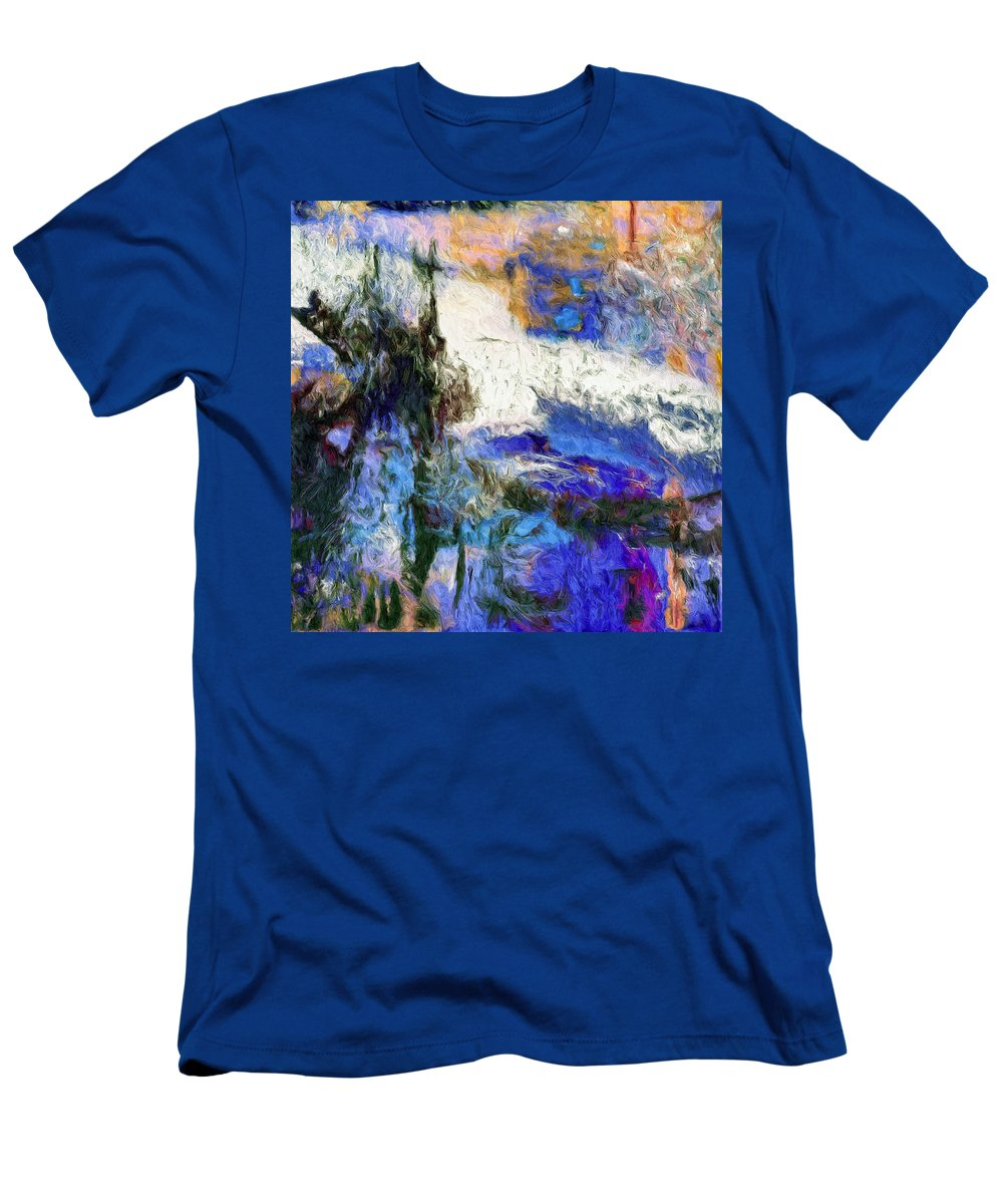 Abstract Men's T-Shirt (Athletic Fit) featuring the painting Sausalito by Dominic Piperata
