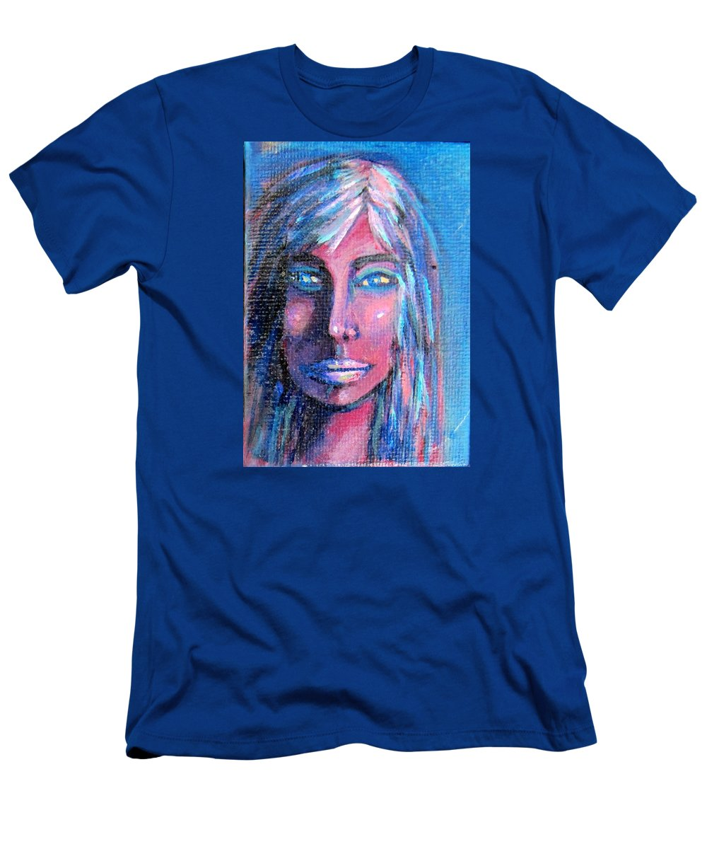 Portrait T-Shirt featuring the painting Shadow Woman by Laurie Morgan