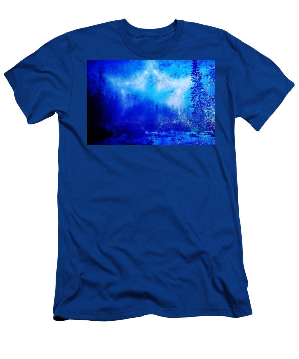 Abstract Men's T-Shirt (Athletic Fit) featuring the photograph Silent Night by Ellen Heaverlo