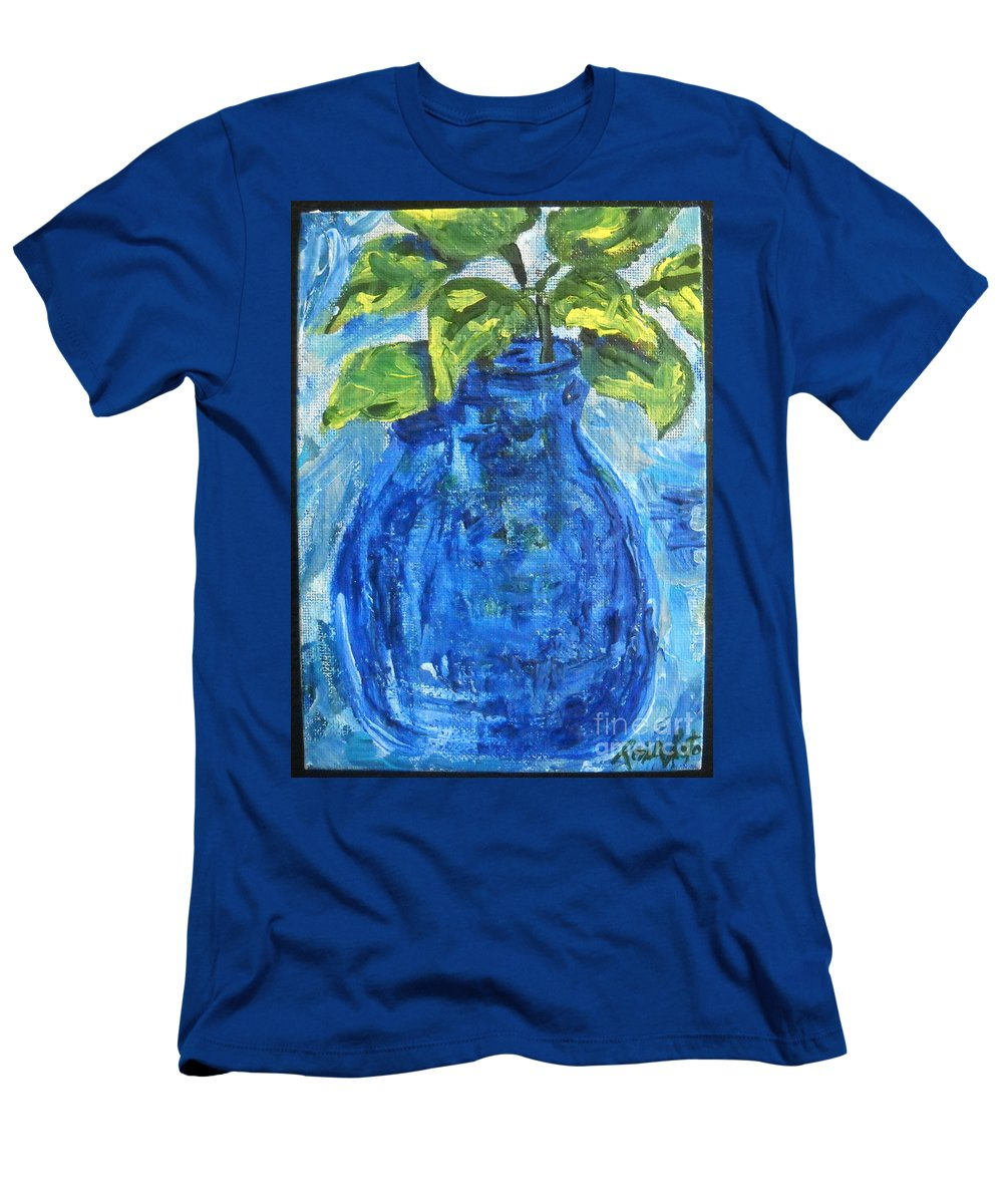 Botanical Men's T-Shirt (Athletic Fit) featuring the painting Simple Greens by Reina Resto