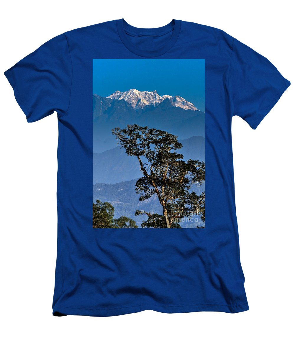 Park Men's T-Shirt (Athletic Fit) featuring the photograph Singalila Ridge Sikkim by Rudra Narayan Mitra