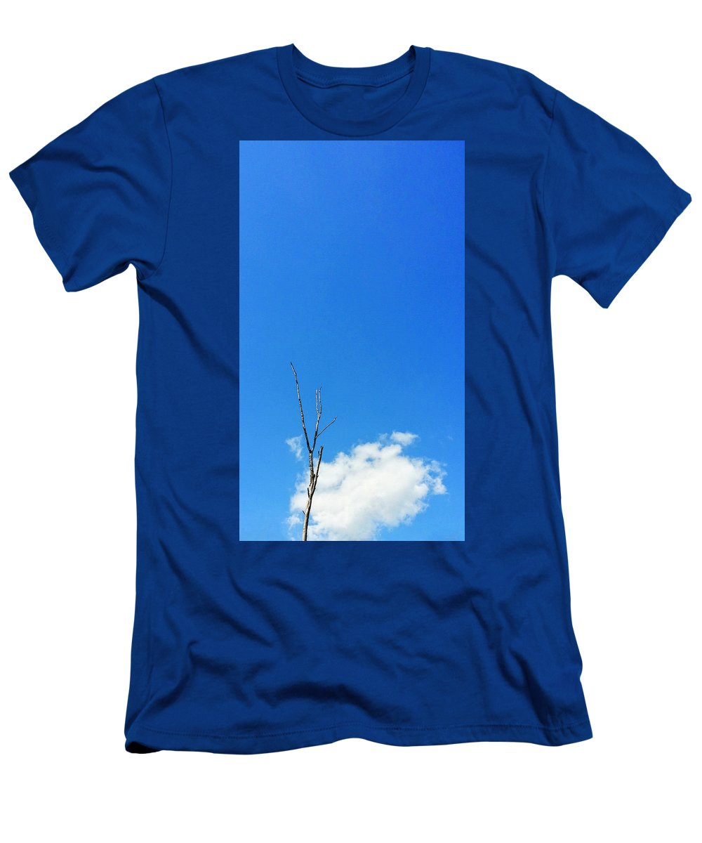 Solitude Men's T-Shirt (Athletic Fit) featuring the painting Solitude - Blue Sky Art By Sharon Cummings by Sharon Cummings