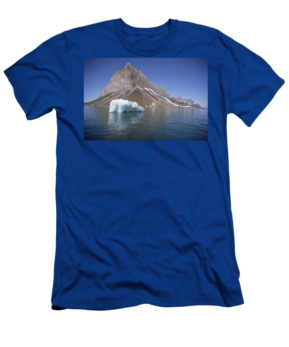 Feb0514 Men's T-Shirt (Athletic Fit) featuring the photograph Spitsbergen Islandn Svalbard Norwegian by Tui De Roy
