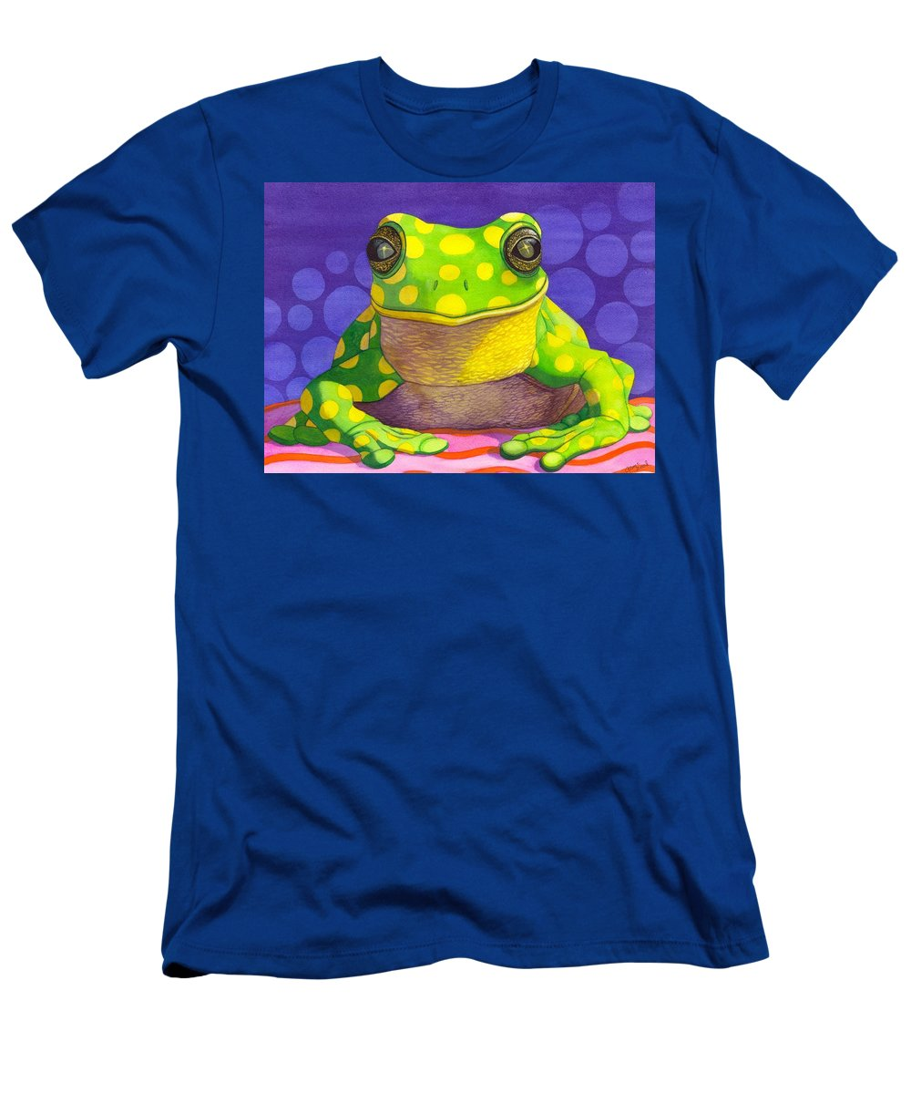 Frog Men's T-Shirt (Athletic Fit) featuring the painting Spotted Frog by Catherine G McElroy