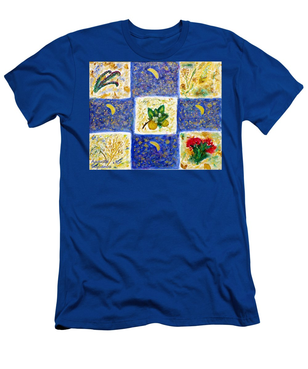 Spring Men's T-Shirt (Athletic Fit) featuring the painting Spring by Augusta Stylianou