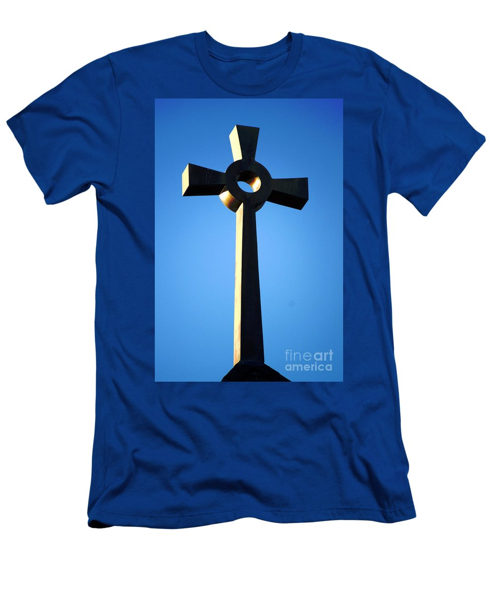 Religious Men's T-Shirt (Athletic Fit) featuring the photograph St. Edmund's Retreat by Joe Geraci