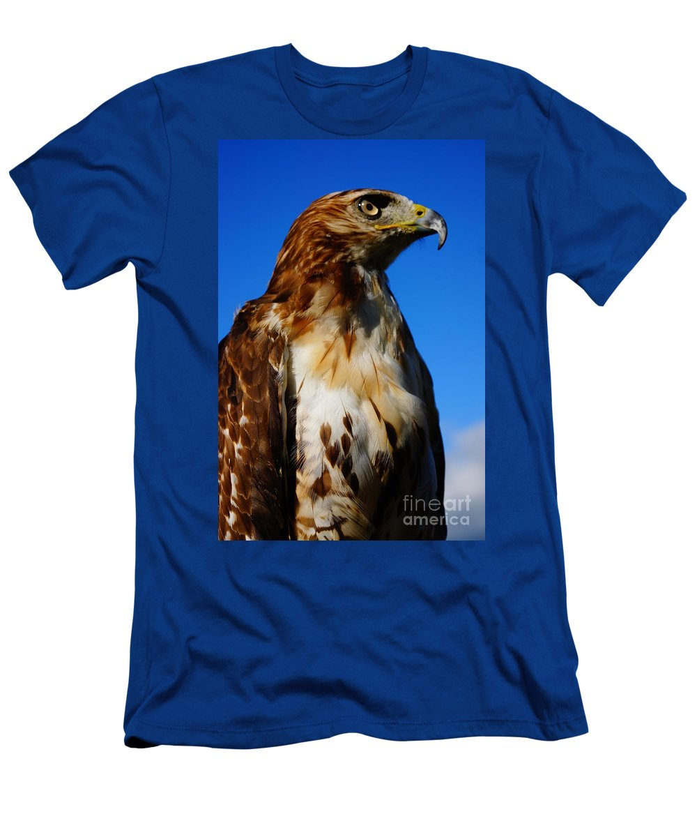 Birds Of Prey Men's T-Shirt (Athletic Fit) featuring the photograph Standing Tall by Jeffery L Bowers