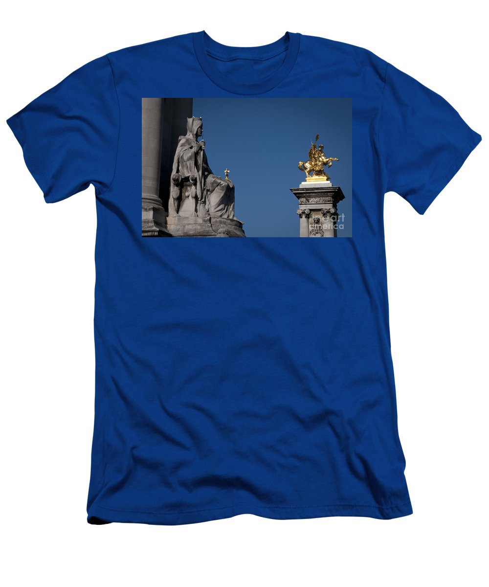 Europe Men's T-Shirt (Athletic Fit) featuring the photograph Statues On Pont Alexandre IIi by Lana Enderle