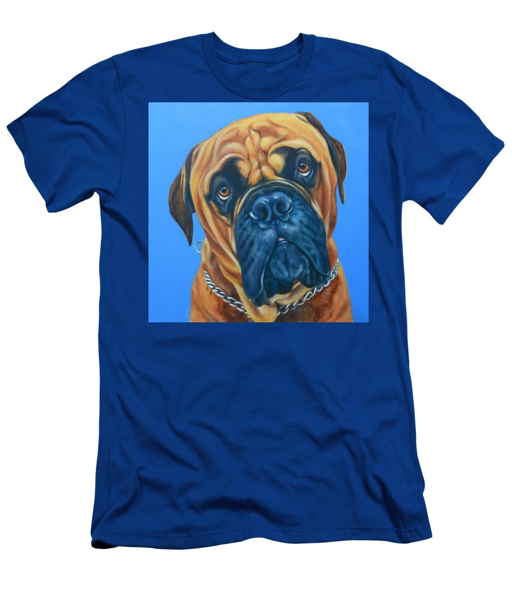 Bull Mastiff Painting Men's T-Shirt (Athletic Fit) featuring the painting Storm by Deborah Cullen