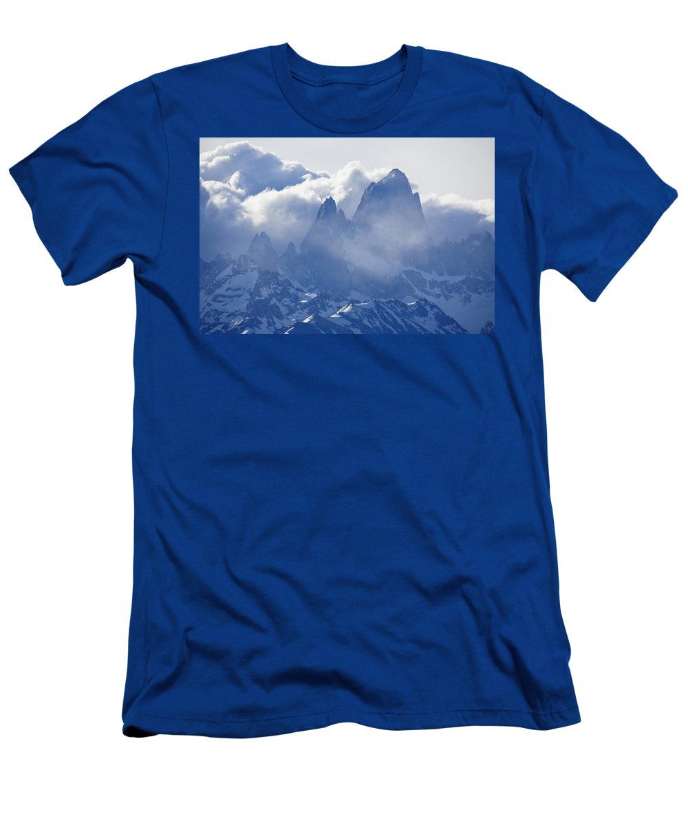 Argentina Men's T-Shirt (Athletic Fit) featuring the photograph Storm Over Fitz Roy 3 by Michele Burgess