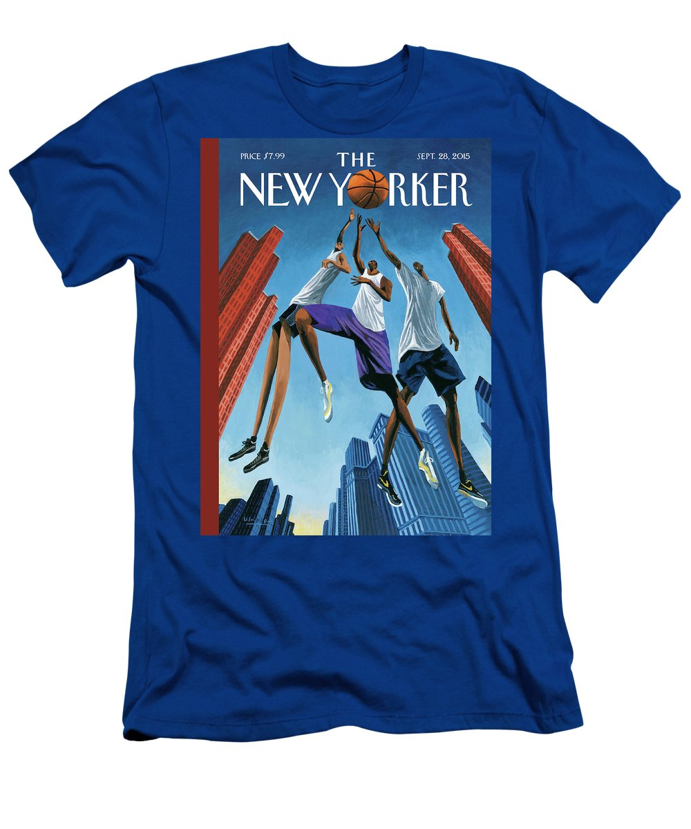 Basketball T-Shirt featuring the painting Streetball by Mark Ulriksen