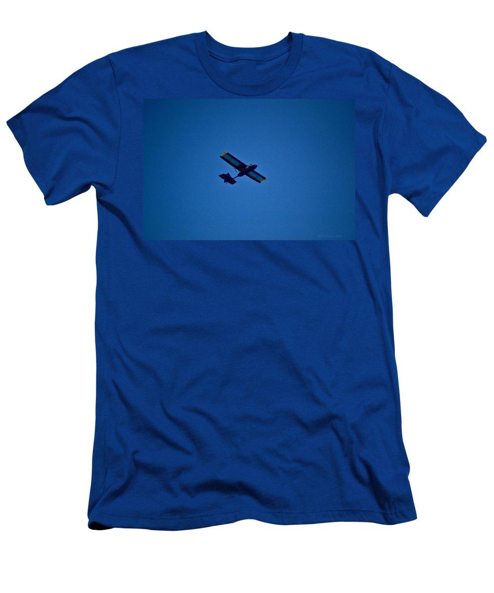 Stunt Plane Men's T-Shirt (Athletic Fit) featuring the photograph Stunt Plane by Tara Potts