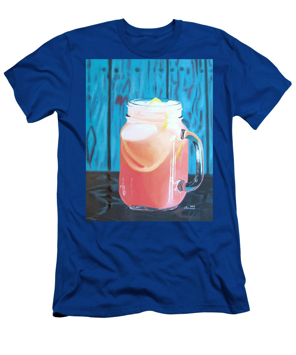 Grapefruit Men's T-Shirt (Athletic Fit) featuring the painting Summer In A Mug by Kayleigh Semeniuk